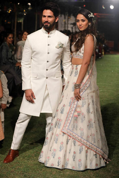 Shahid Kapoor and Mira Rajput for Anita Dongre