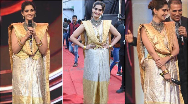 The Ethno-Metallic Saree