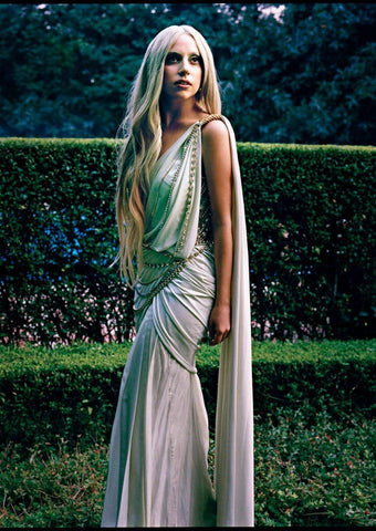 Lady Gaga in a Saree