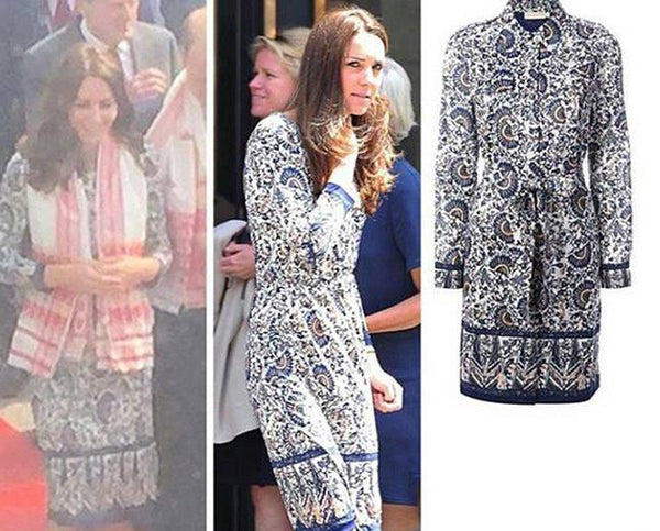 Kate Middleton in Tori Burch