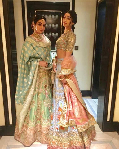 sridevi with daughter khushi at the mohit marwah wedding