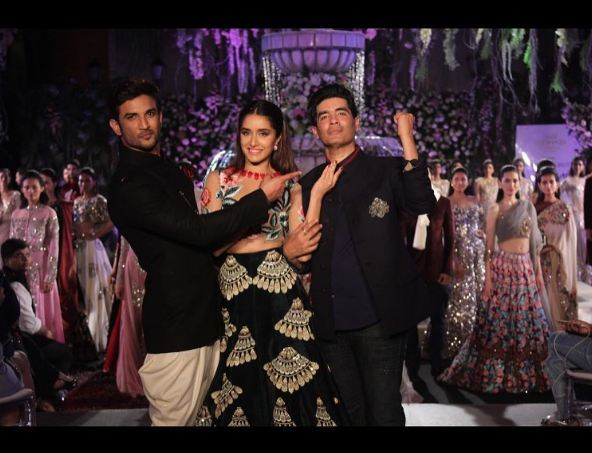 Sushant Singh Rajput and ShraddhaKapoor for Manish Malhotra