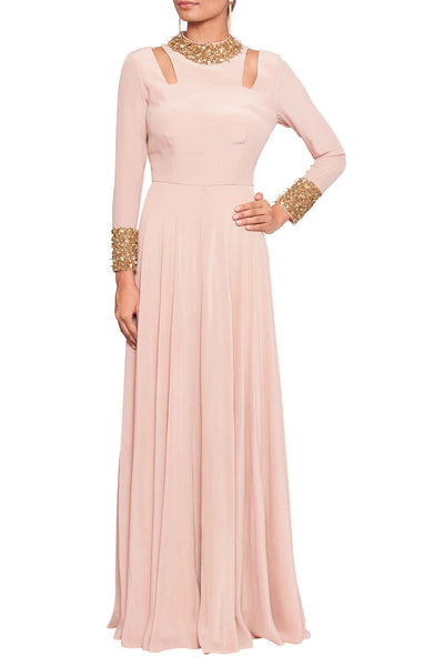 Embroidered Blush Pink Gown