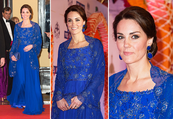 Kate Middleton in Sapphire Blue