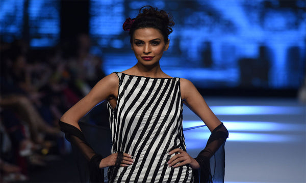 Monochrome is a big trend from Fashion Pakistan Week