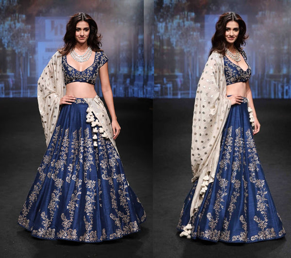 Ink Blue Lehenga and Choli