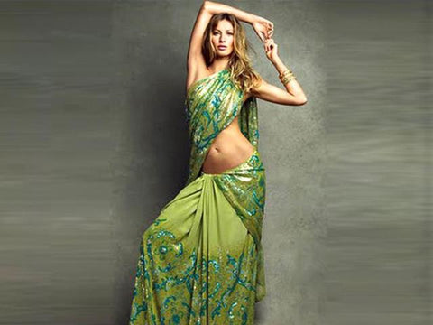 Gisele Bundchen in Saree