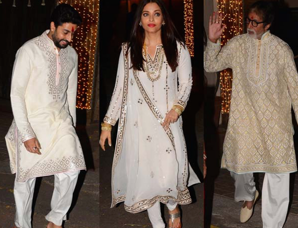 Abhishek Aishwarya and Amitabh prepare for the Diwali Bash 2016