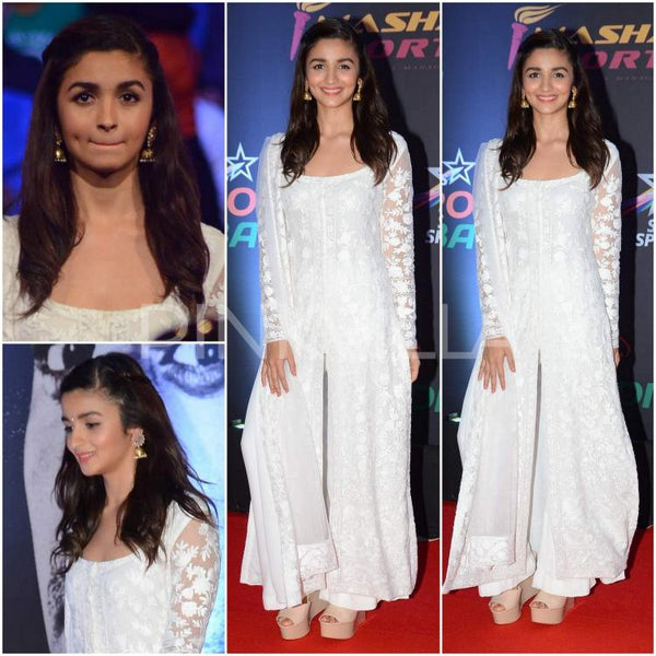 alia bhatt wears white manish malhotra