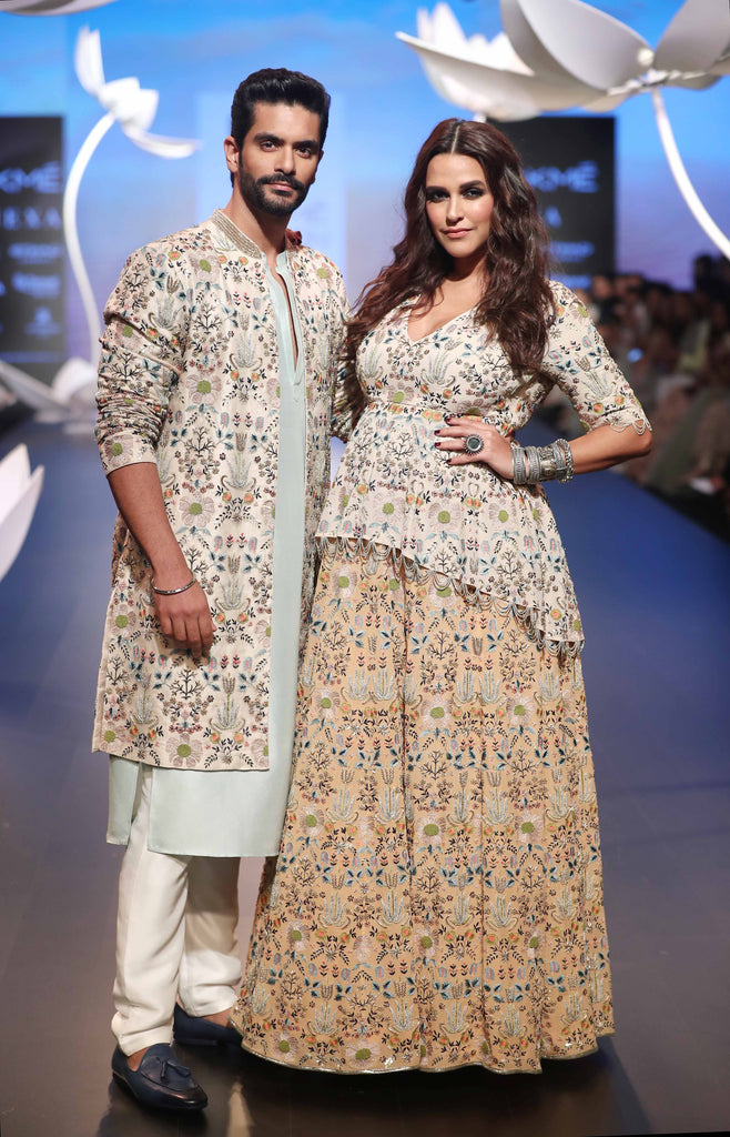 Angal Bedi and Neha Dhupia for Payal Singhal