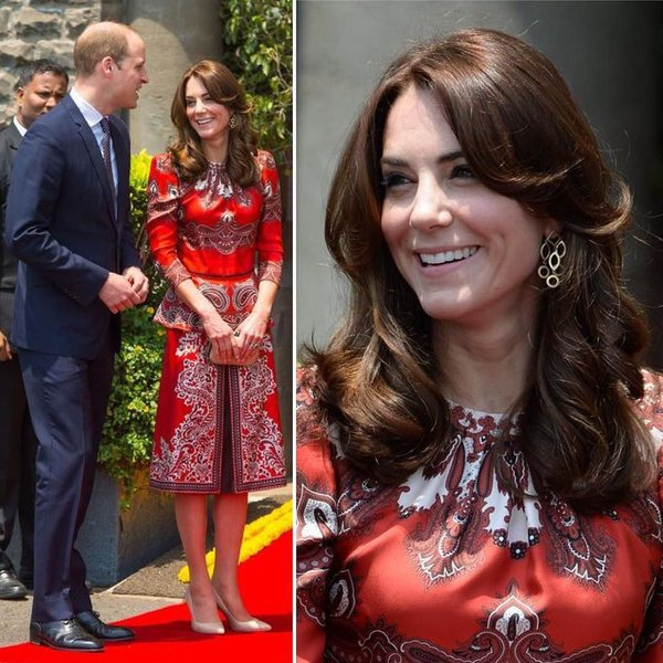 Kate in Alexander McQueen during Royal India Tour