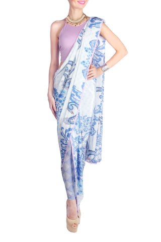 Leggings on a Concept Saree