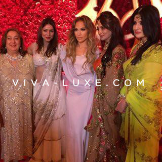 Jennifer Lopez performs for lucky guests at the exclusive Hinduja wedding in Udaipur