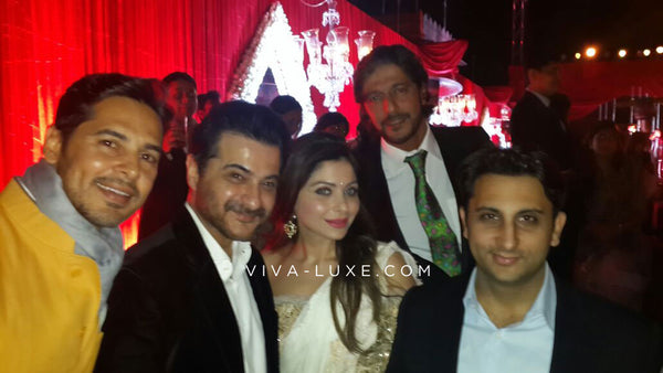 Sanjay Kapoor, Kanika Kapoor and Chunky Pandey are among the guests at the Hinduja wedding