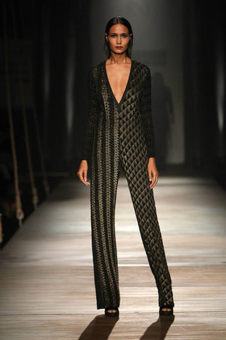 Namrata Joshipura's Sequinned Jumpsuit at AIFW
