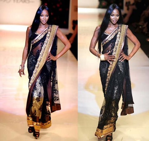 Naomi Campbell in  Saree