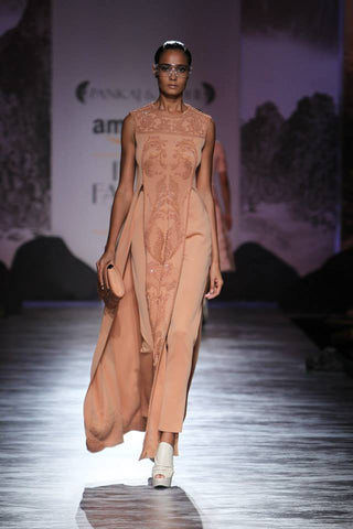 Pankaj and Nidhi's Dress-top and Pants Set at AIFW