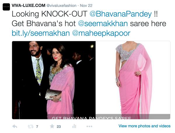 Chunky Pandey escorts wife Bhavana Pandey in this pretty pink Seema Khan saree