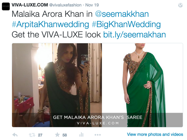 Malaika Arora-Khan wears designer Seema Khan's statement emerald saree
