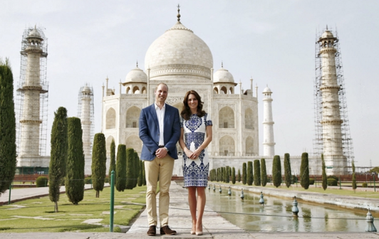 Kate Middleton and Prince William at Taj Mahal