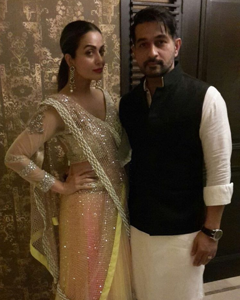 Amrita Arora at Amitabh's Diwali Party