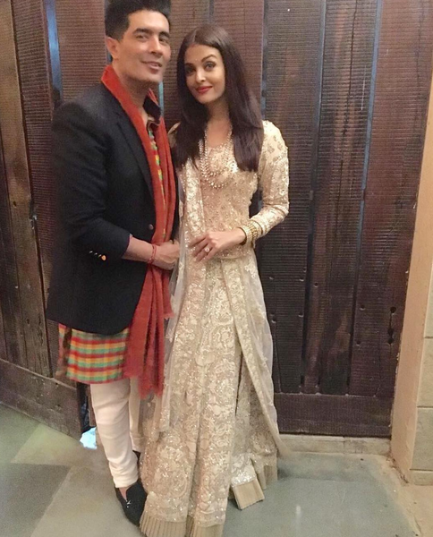 Aishwarya wears Manish Malhotra for Diwali party 2016