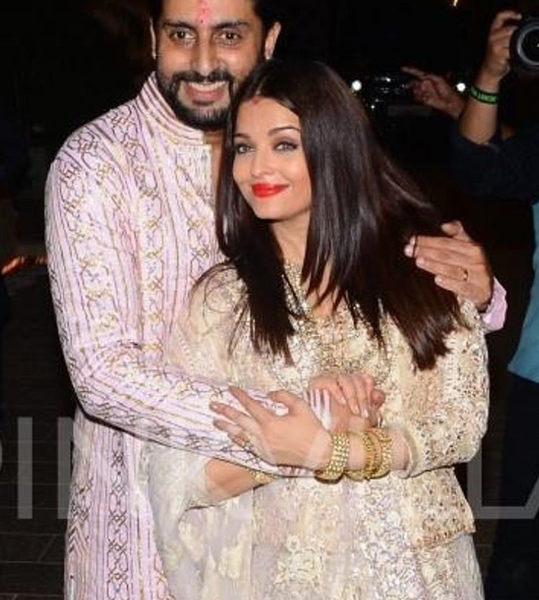 Abhishek and Aishwarya at Diwali Party