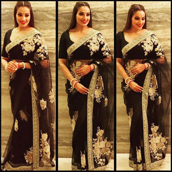 Bipasha Basu in Sabyasachi Official for Bachchan Diwali Bash