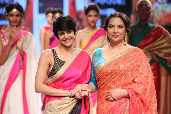 Shabana Azmi looked radiant in her Mandira Bedi two-piece saree