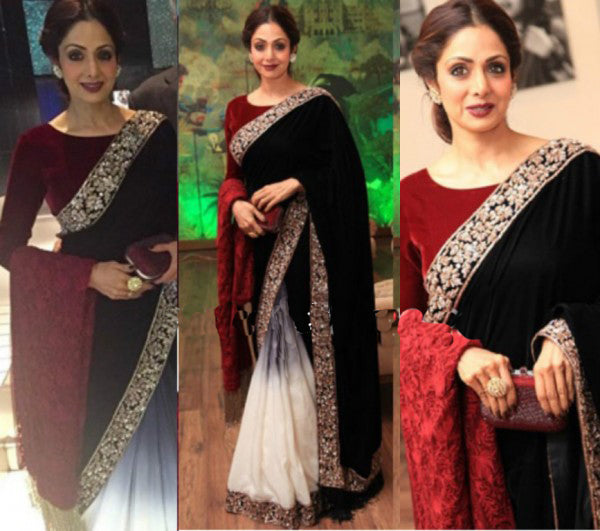 Sri Devi in an ombre Manish Malhotra saree
