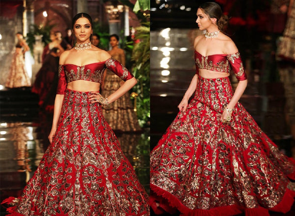 Deepika Padukone for India Couture Week 2016 in Manish Malhotra