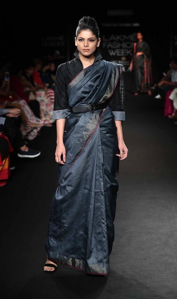 Vriksh by Gunjan Jain-Saree