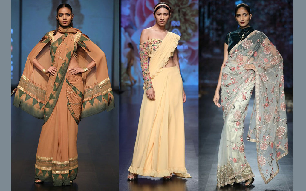 Wow Sarees From AIFW A/W 2018 That You'll NOT Want To Miss