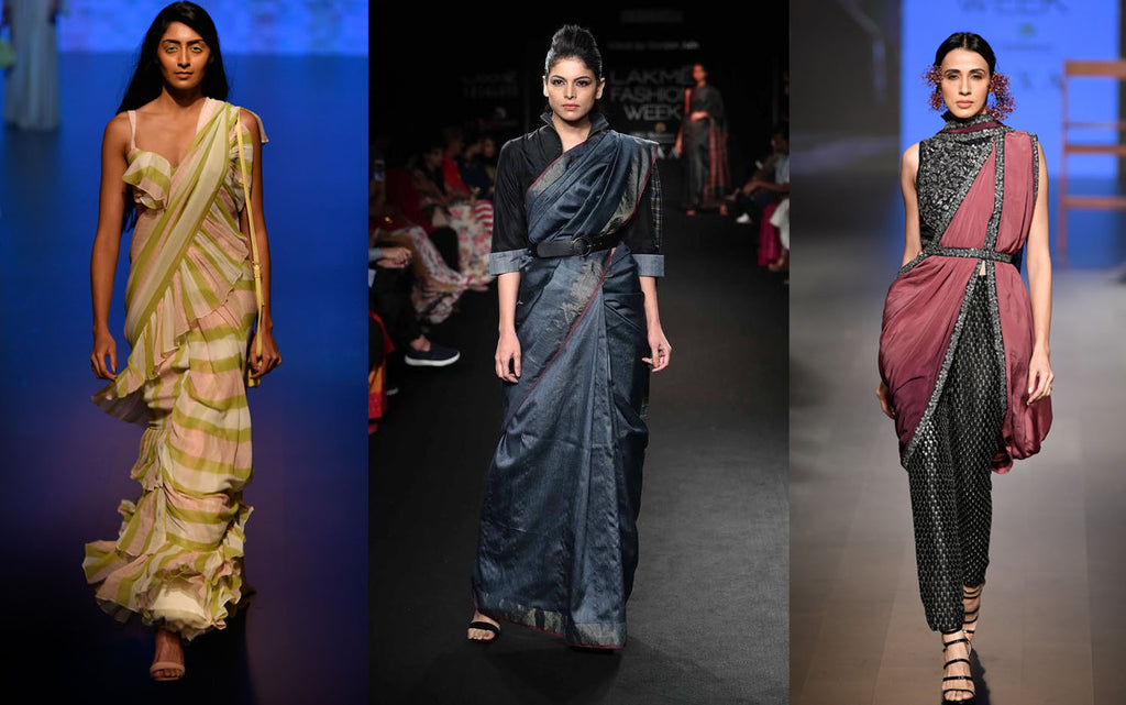 7 NEW WAYS TO WEAR A SAREE ACCORDING TO LAKME FASHION WEEK 2018