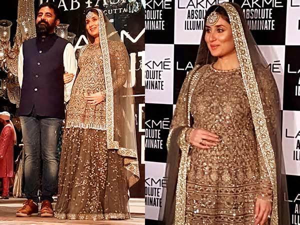 Mummy to be Kareen Kapoor at LFW