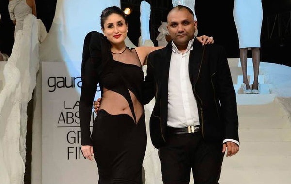 kareena kapoor at lfw qith gaurav gupta