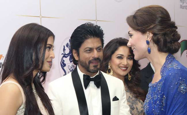 Kate meets actors Aishwarya Rai-Bachchan and Shah Rukh Khan