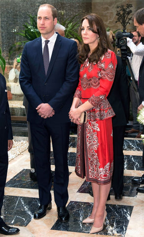 Kate in Alexander McQueen Day 1 Royal India Tour