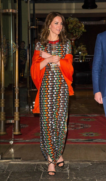 "<p style=""text-align: center;""><em><strong>Tory Burch</strong> is almost always worn on by Kate on public engagements.</em></p> <p style=""text-align: center;""> </p>"