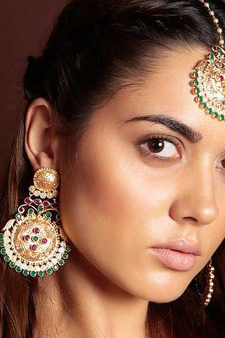 Chamak Embossed Earrings