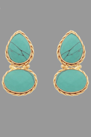 Turquoise Rain Catcher Earrings
