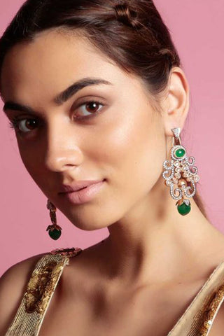 Green Asiana Earrings