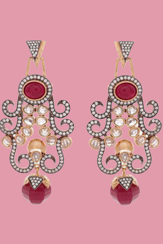 Red Asiana Earrings