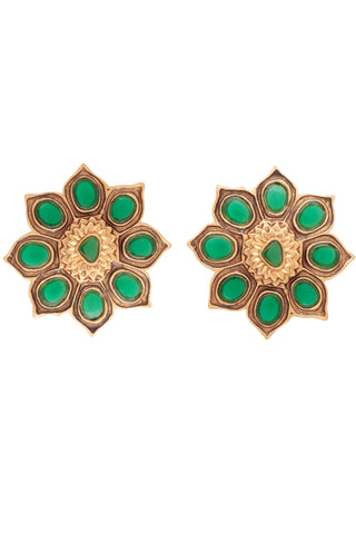 Green Sun Flower Stud