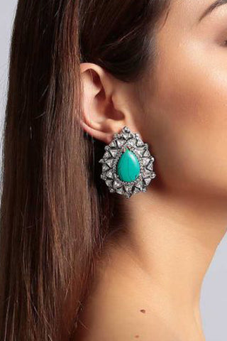 Dark Navy Rona Earrings