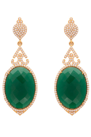 Green Turkish Delight Earrings