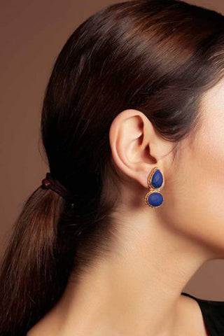 Dark Blue Rain Catcher Earrings
