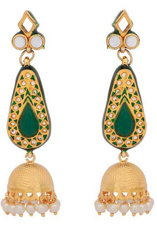 Green Janki Earrings