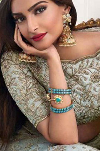 White Sonam Earrings