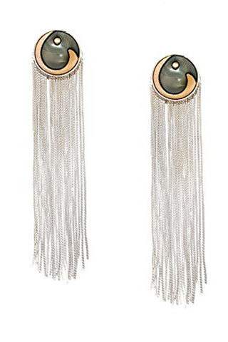 Grey & Silver Valliyan Tassel Earrings
